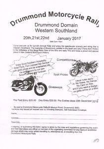 Drummond Motorcycle Rally 2017