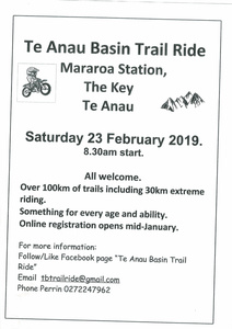 Te Anau Basin Trail Ride