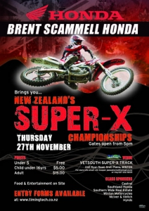 NZ Super-X Champs bought to you by Brent Scammell Honda